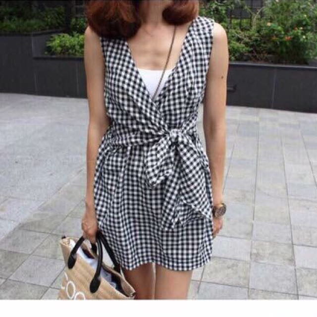 綁帶韓版洋裝
