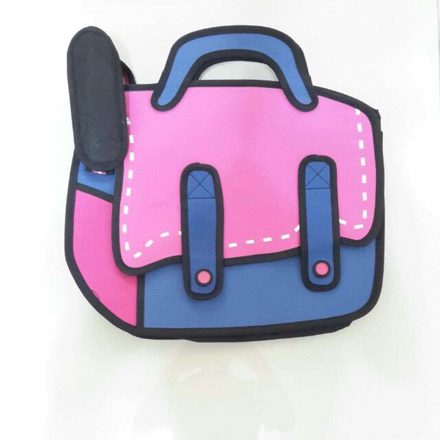 韓版包包 側背包 書包 3D立體包