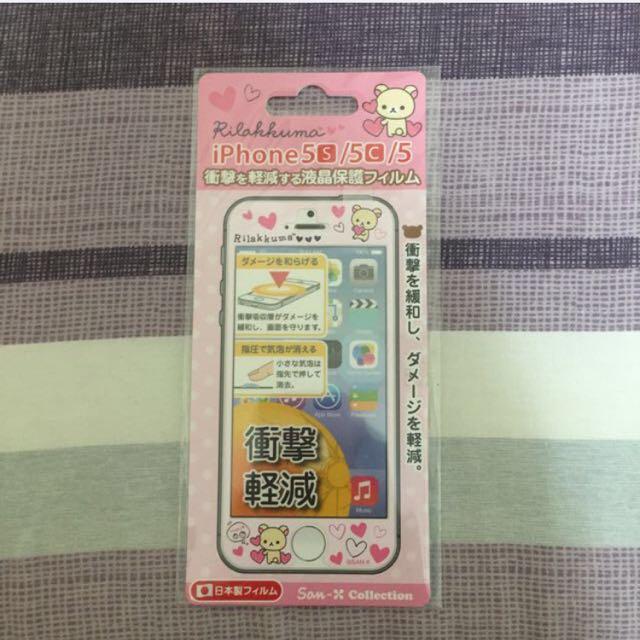 拉拉熊 保護貼 防衝擊 iPhone 5/5s/5c