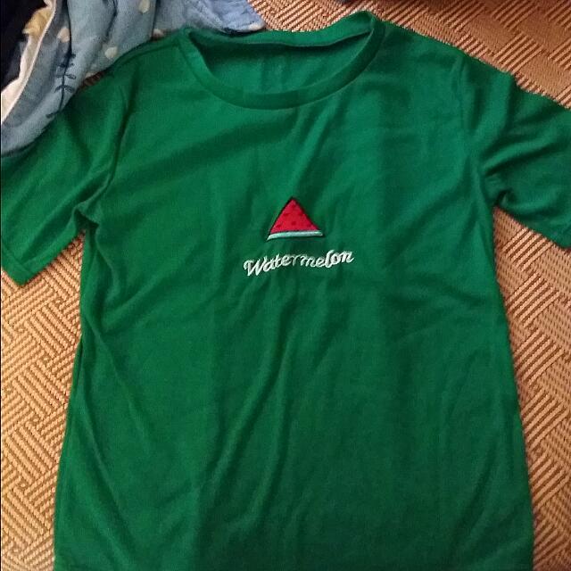 水果 西瓜 綠色 短袖t