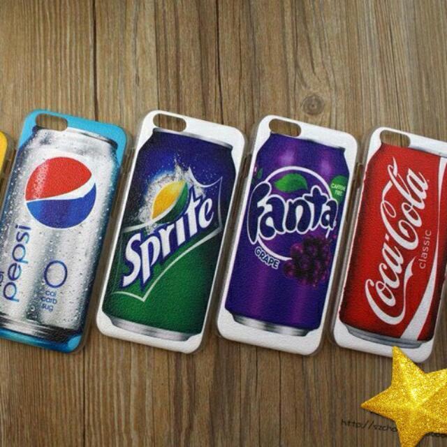 創意系列 汽水飲料iphone6,plus百事可口可樂手机壳 蘋果雪碧潮