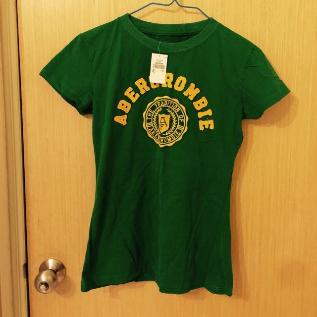 全新-A&F綠色上衣