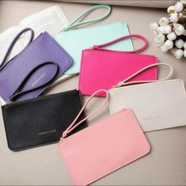 現貨💕新加坡CHARLES&KEITH 小CK 信封式薄型長款錢包 手拿包 手機包 零錢包 收納包 大鈔包 卡包-六色任選