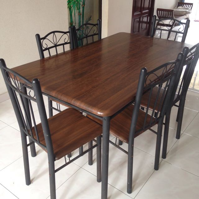 Dining Table Set, Shelf, Wooden Bench for only $75