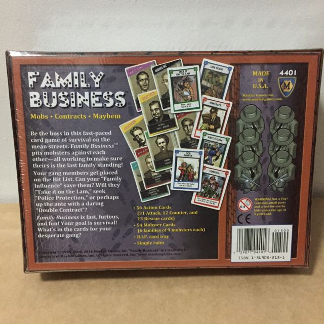 Family business card game toys games on carousell colourmoves