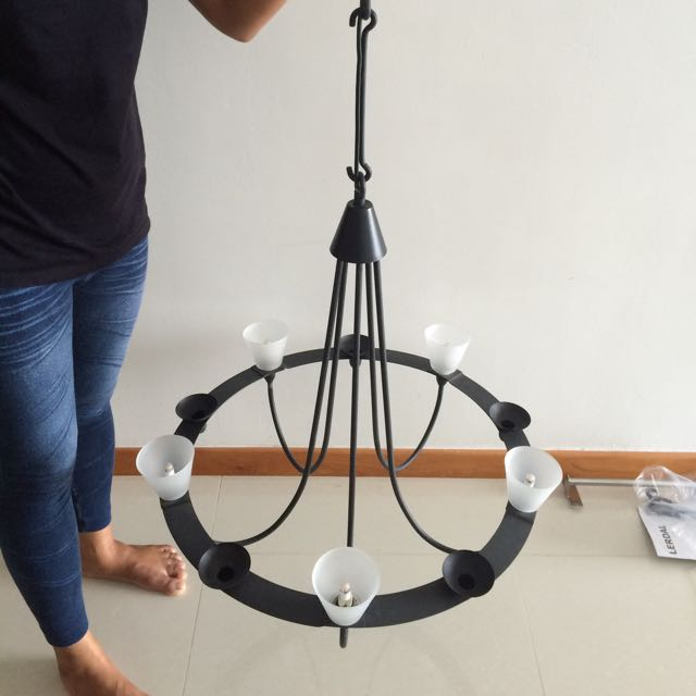 Ikea lerdal black chandelier furniture on carousell mozeypictures Images