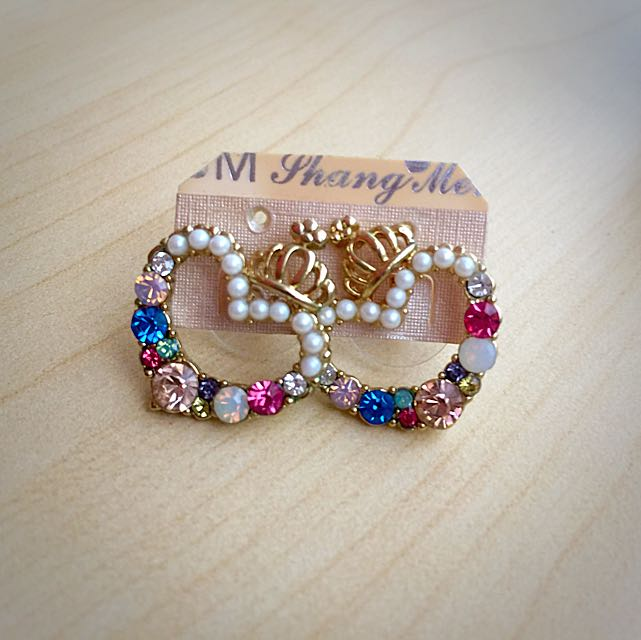 Princess Heart Earring handmade