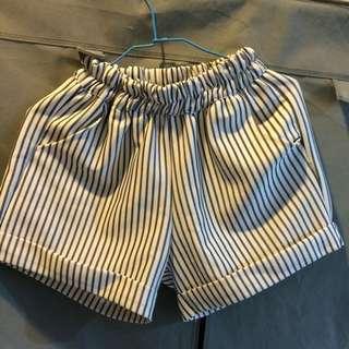 (降)條紋短褲