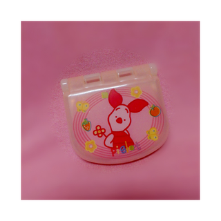 全新迪士尼小豬粉色鏡子+梳子組合