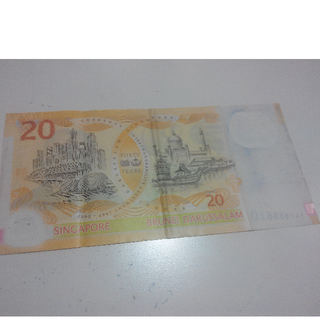 Singapore $20 polymer banknote
