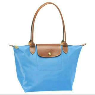 Authentic Longchamp Pliage 1899 Ultra Marine Blue Shoulder Bag Tote Small