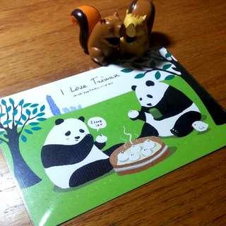 明信片×熊貓