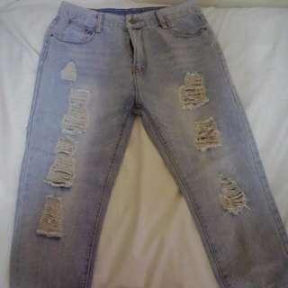 正韓 牛仔褲/bf褲/男友褲---版型美