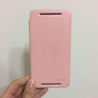 HTC One M7 嫩粉 掀蓋手機殼