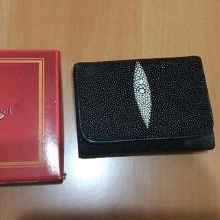 泰國珍珠魚皮短夾(含運)
