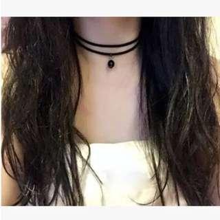 黑色珍珠雙層頸鍊