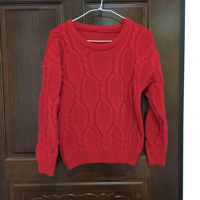 ✨含運✨冬天必備紅毛衣