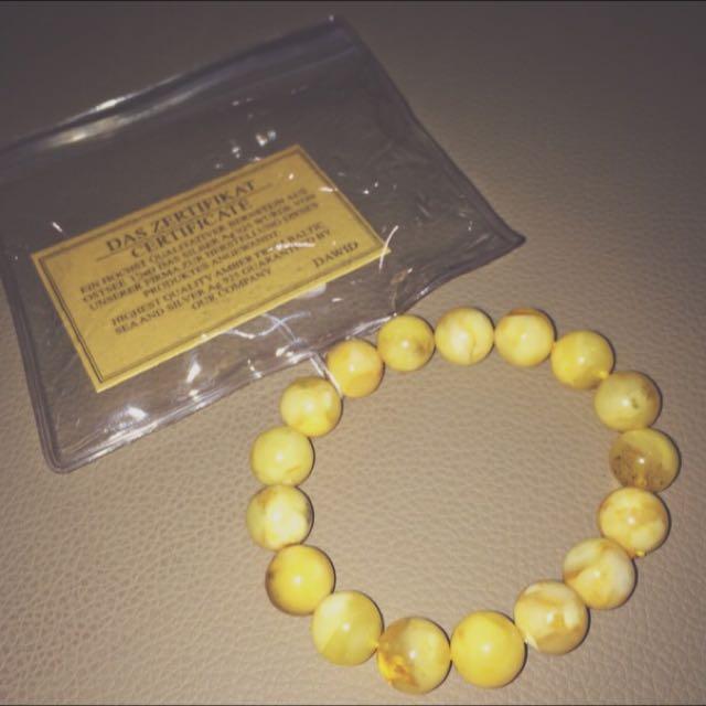 🇵🇱古蜜蠟琥珀手環🇵🇱