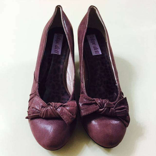 全新-麂皮咖啡色高跟鞋👠