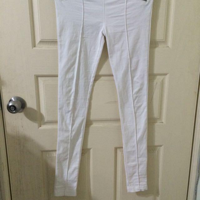 白褲 穿過2次 購入自50%