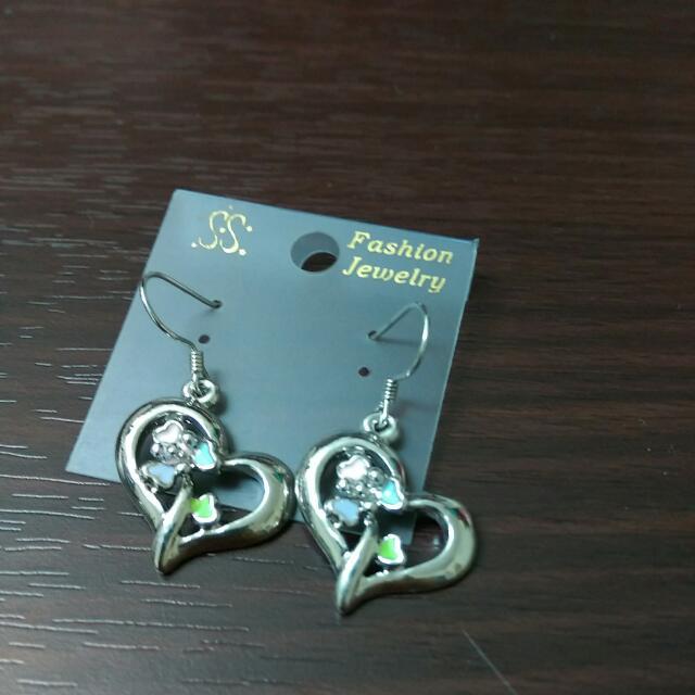 全新 銀飾耳環