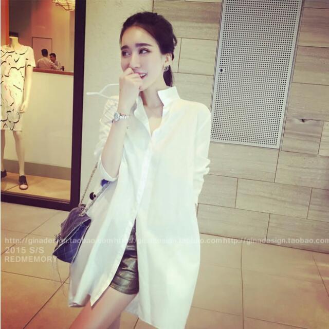 『夏出清賠售』韓版寬鬆 襯衫裙(白色)