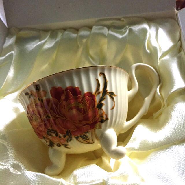 筆藝洋行-骨董陶瓷歐洲風格藝術鄉村珐瑯花茶杯咖啡造型杯盤組 下午茶必備