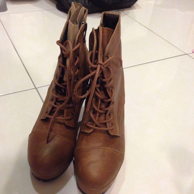 🇰🇷韓 全新 棕色靴24.5✨