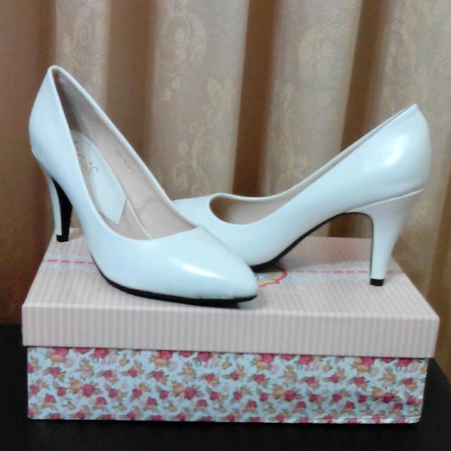 Ann's白色素面尖頭鞋(38)
