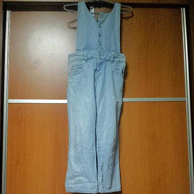 Faded Blue Denim Overall