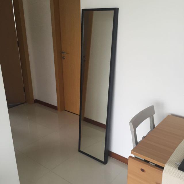 full length ikea standing mirror  furniture on carousell