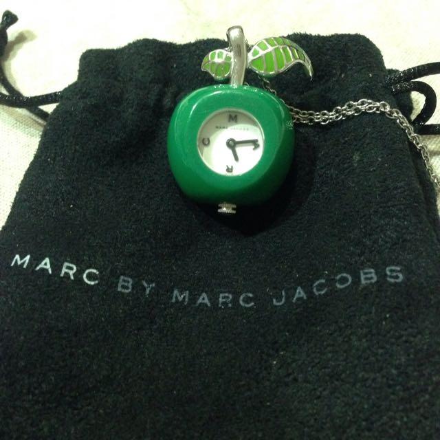 Marc Jacobs綠蘋果小時鐘長鍊