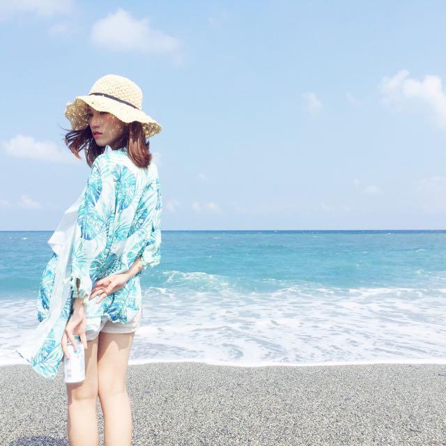 Starmimi 藍綠仲夏 印花罩衫