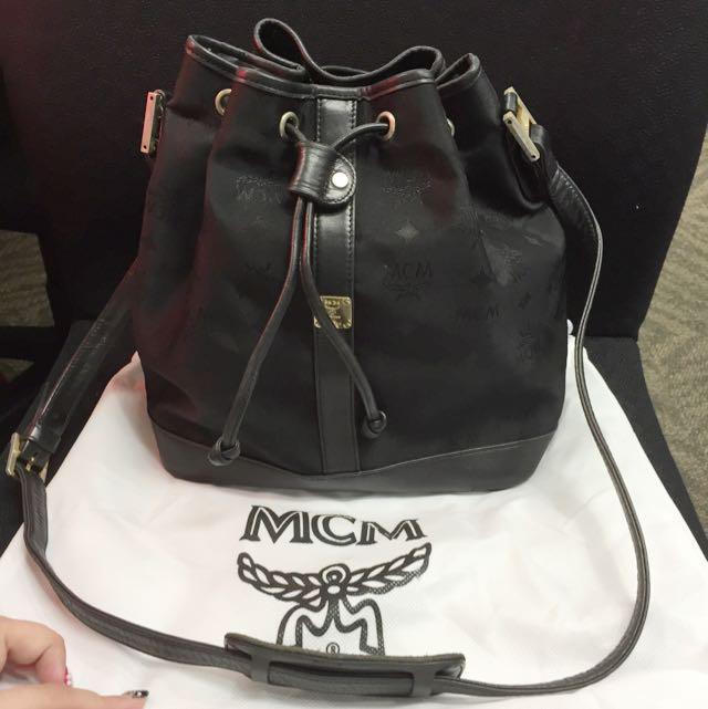 Used Mcm Black Bucket Bag Luxury On Carou