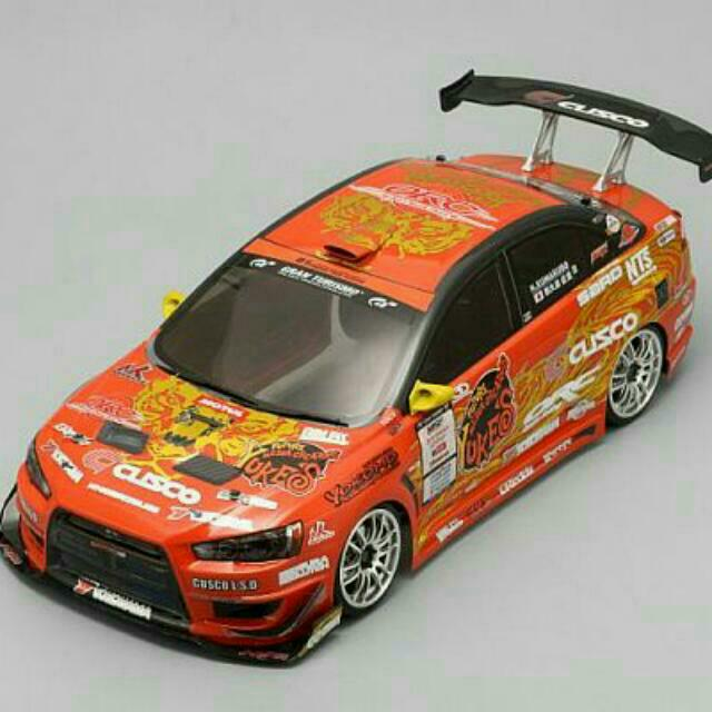 Yokomo Yukes Team Orange Evo X RC Drift Body Shell  Suit