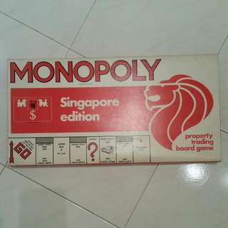 Monopoly Singapore Edition  (Property Trading Board Game)