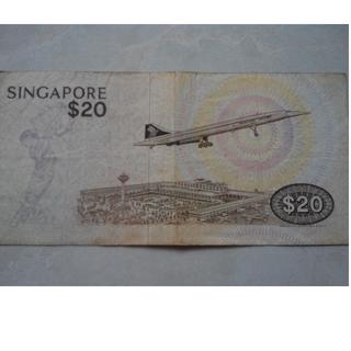 Singapore $20 bird series banknote