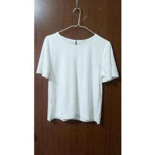 GU 荷葉袖T恤