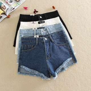單寧潮 M號現貨🔹不規則前短後長牛仔短褲🔹