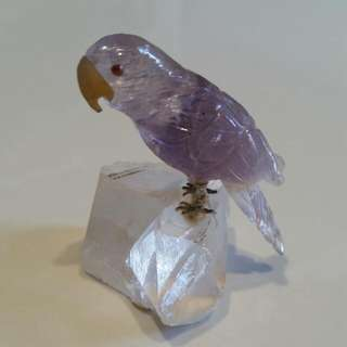 Natural Crystal stone . Hand Crafted Bird.  Self Collect at Tampines