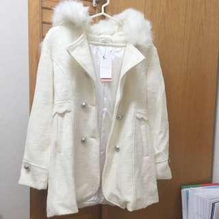 全新!東京著衣白色大衣M號