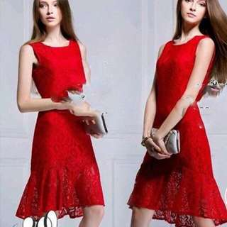 Ready Glamour Party Red Dress
