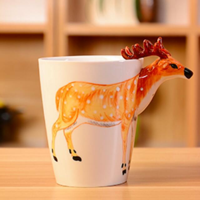 免運/六款/3D立體手繪陶瓷杯