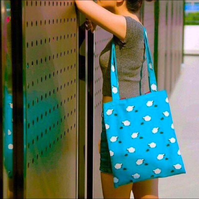 日系 手提肩背兩用布包