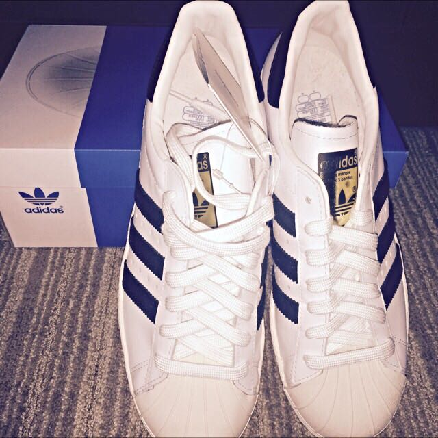 0f993d878 Authentic Adidas Superstar  80s Black Stripes On White. Bought From ...