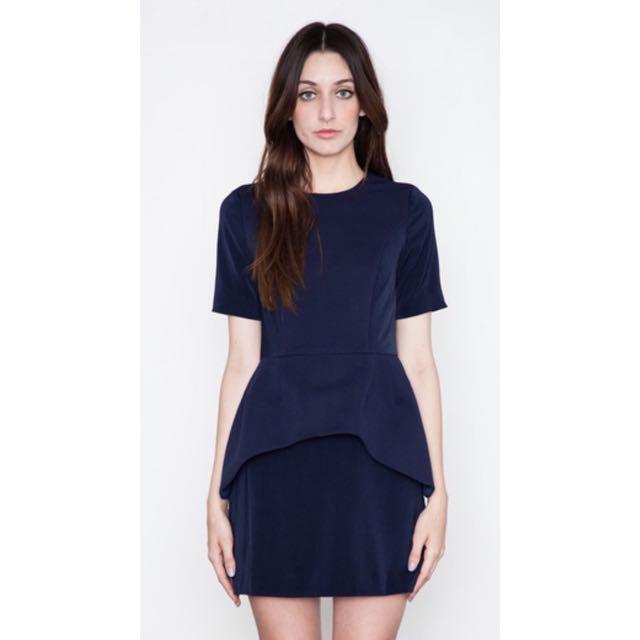 CAMEO Wild Honey Navy Blue Dress Sz L