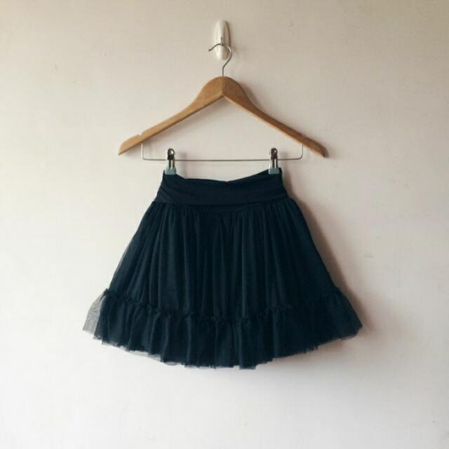 ✋保留✋ Forever 21 黑色蓬蓬軟紗裙