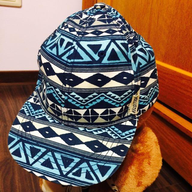 📦Hollister藍格民族風鴨舌帽
