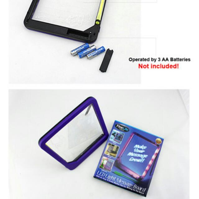 Neon Illuminated Erasable Led Writing Message Board With Pen