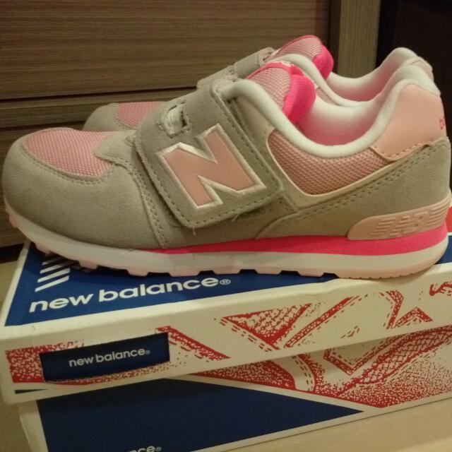 new balance 574 灰粉 童鞋